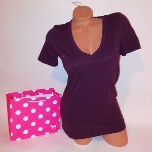 Victoria Secret PINK T Shirt  V Neck Short Sleeve